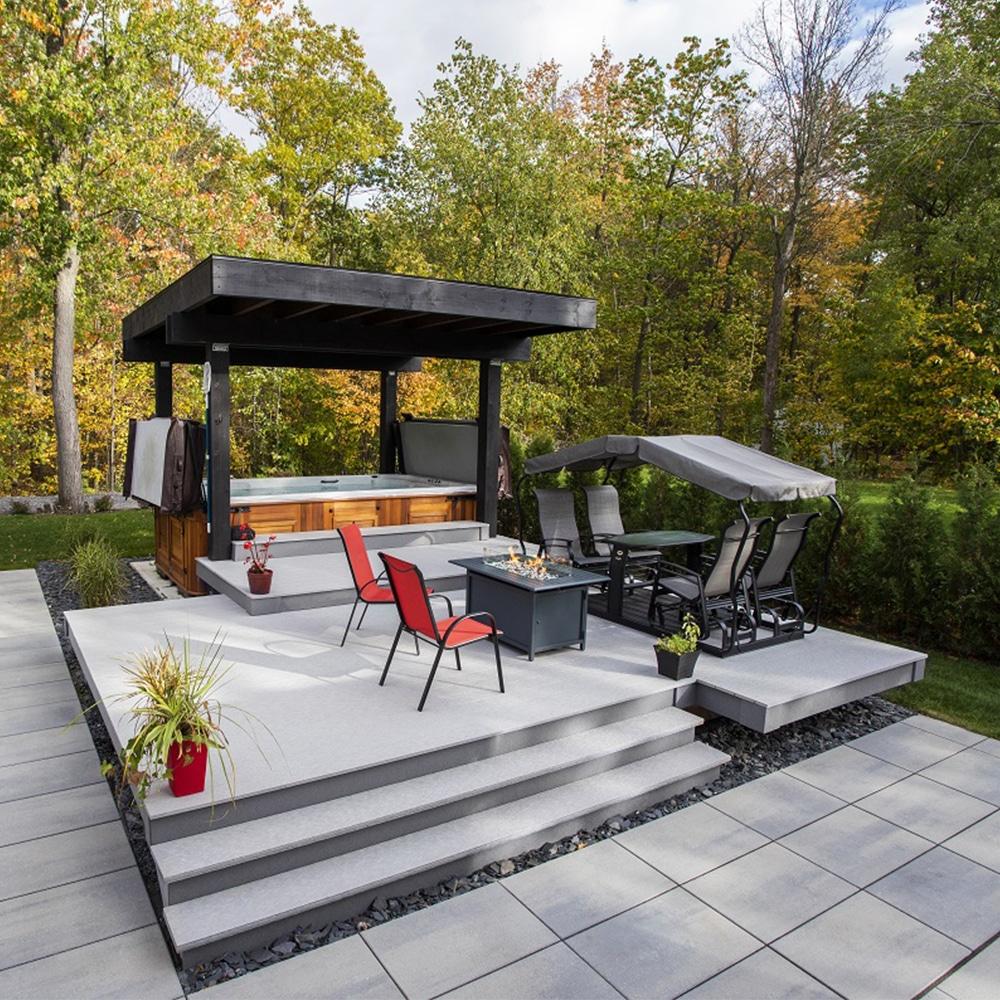 Planches pour patio dekavie en gris de mer